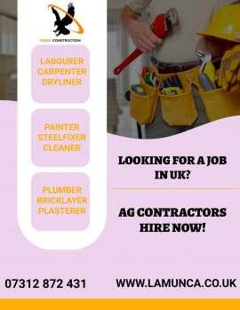 Anunturi UK Angajam in permanenta constructori in UK