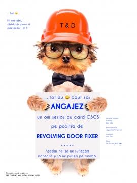 Anunturi UK ANGAJEZ REVOLVING DOOR FIXER