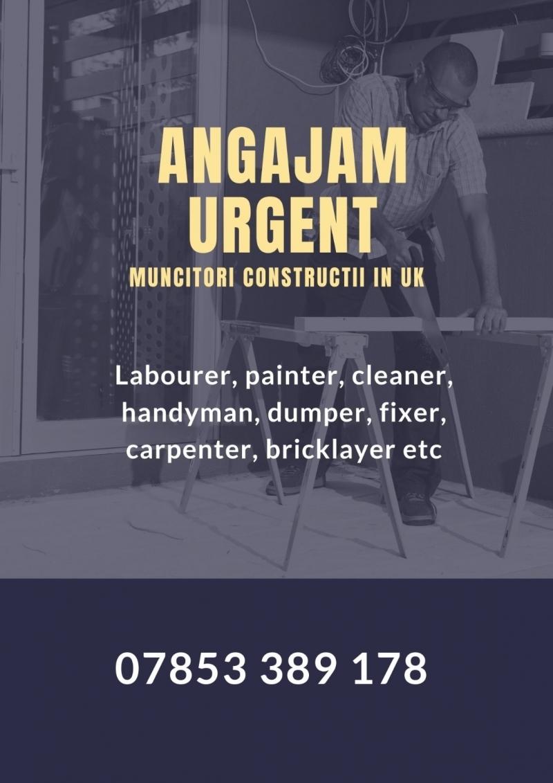 Angajam urgent muncitori pe șantiere