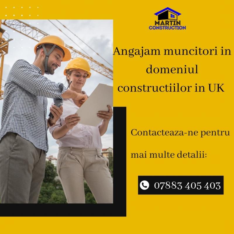 Angajam muncitori constructii UK